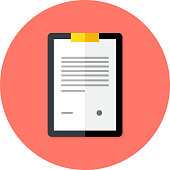 Business Clipboard Flat Circle Icon