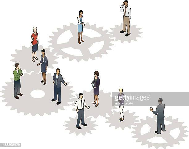 Business Cogs Illustration
