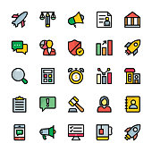 Business Colored Outline Vector Icons