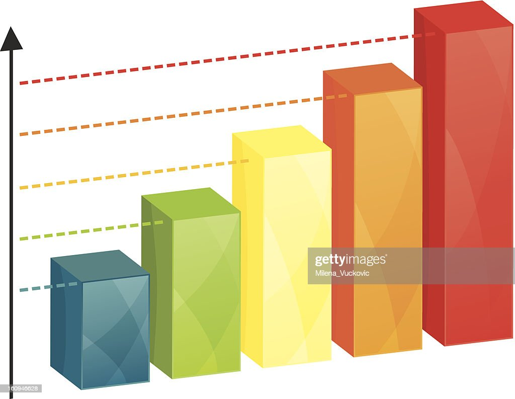 Business colorful graph