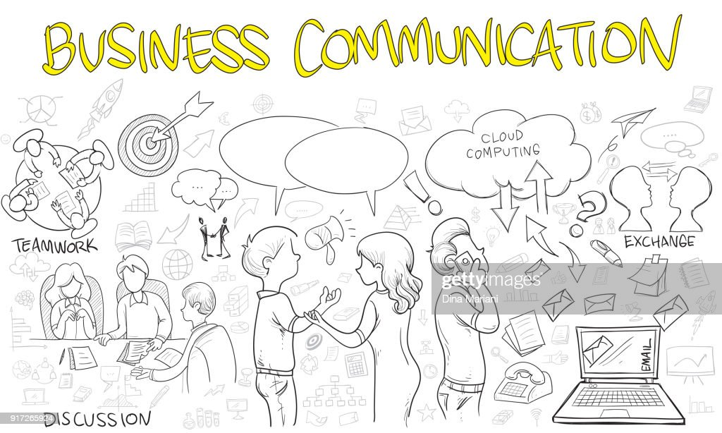 Business Communication Doodle