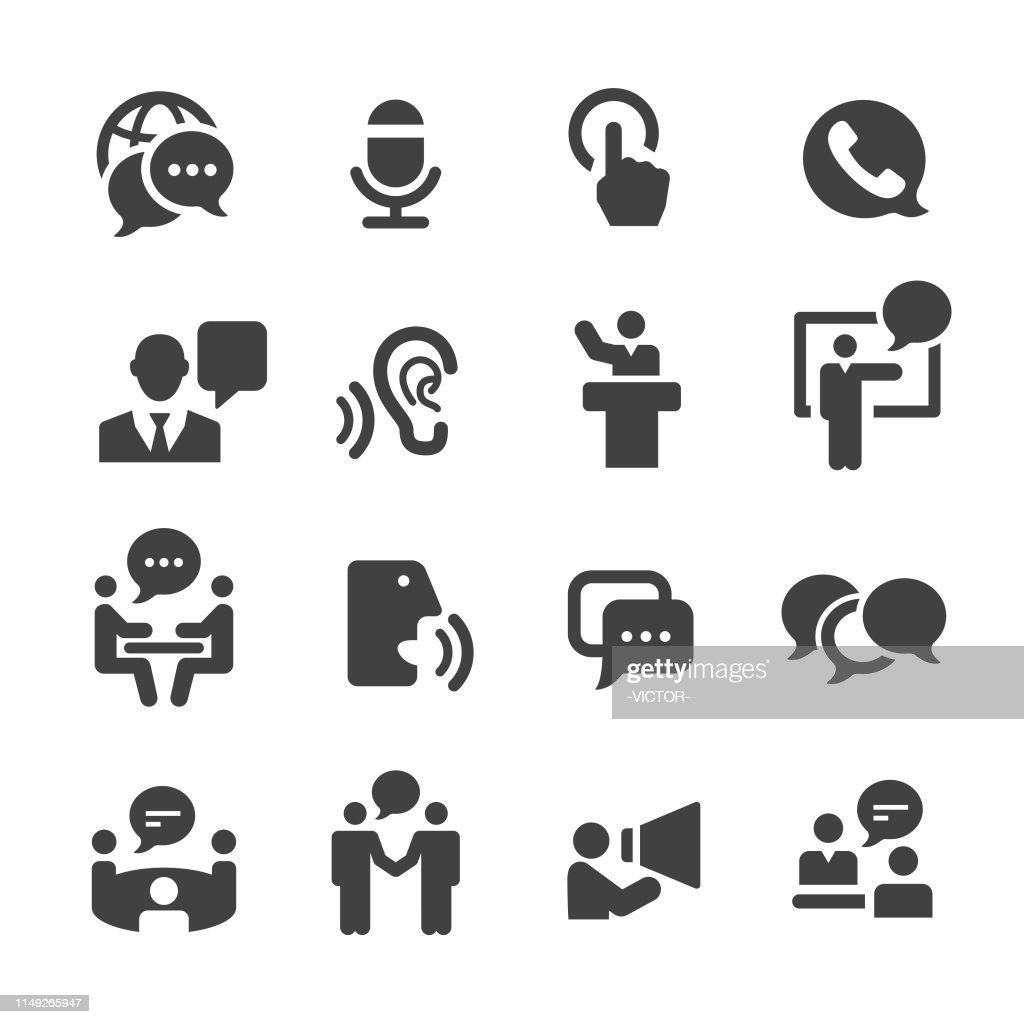 Business Communication Icons - Acme Series : stock illustration