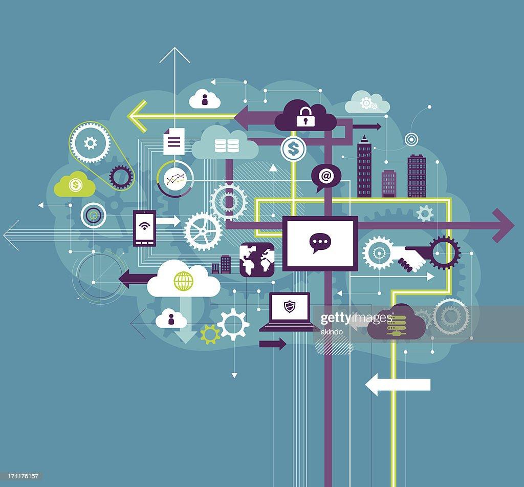 Business communication : stock illustration