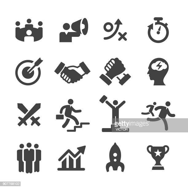 business competition icons - acme series - competition stock illustrations