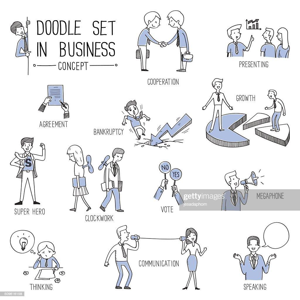 Business concept doodle