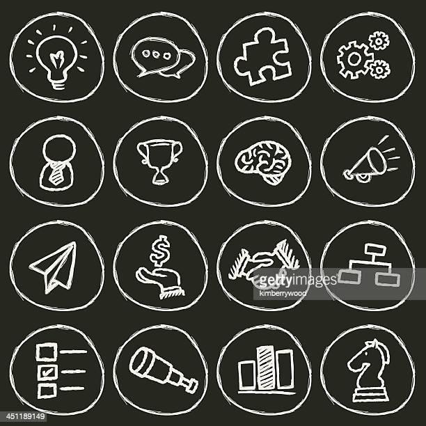ビジネスコンセプトのアイコン - チョーク画点のイラスト素材/クリップアート素材/マンガ素材/アイコン素材