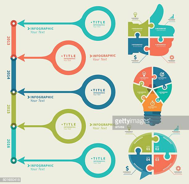 business concept infographic - time line stock illustrations, clip art, cartoons, & icons