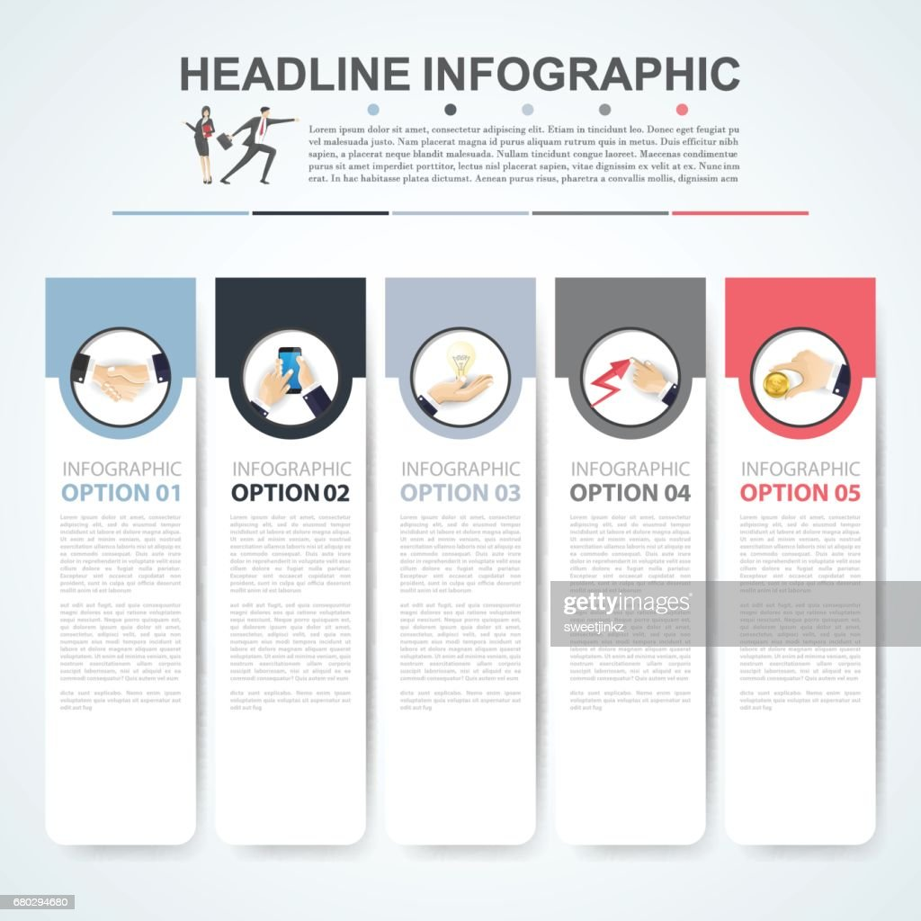 Business concept timeline infograph template realistic paper 5 steps business concept timeline infograph template realistic paper 5 steps infographic vector banner can friedricerecipe Gallery