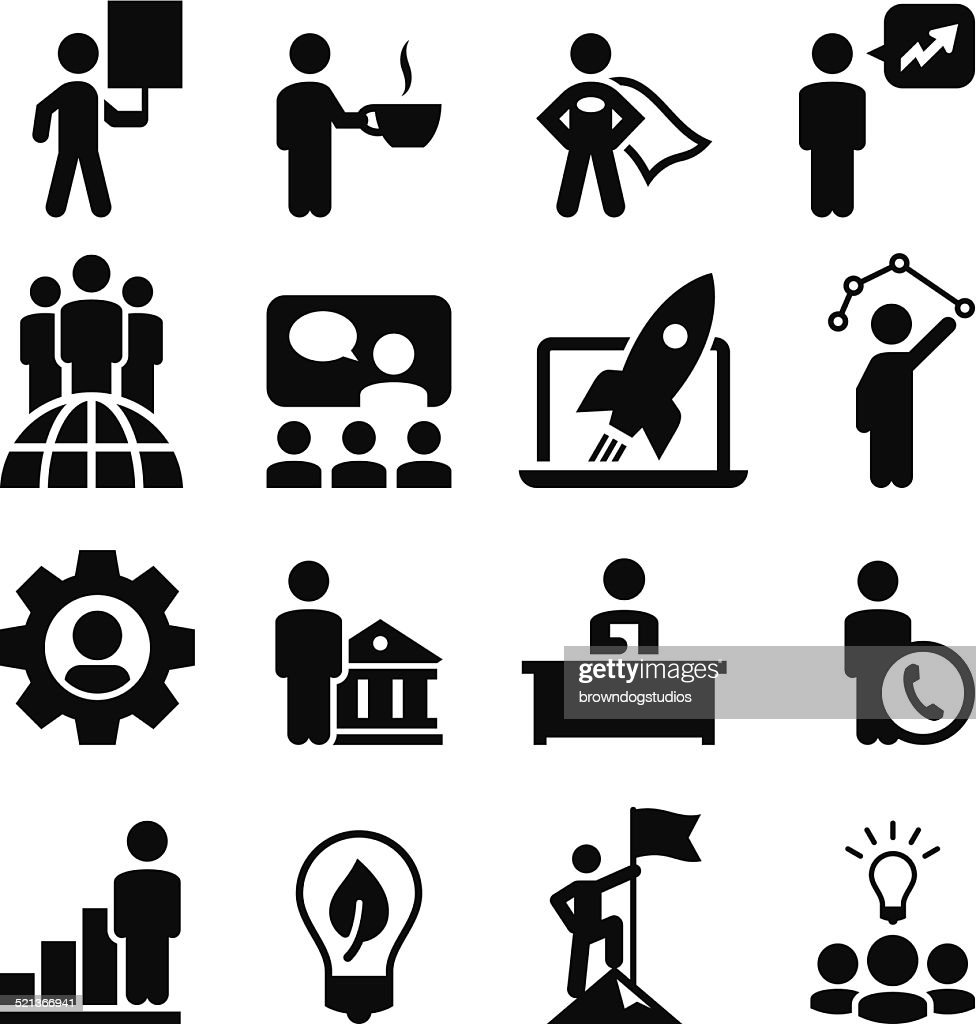 Business Concepts Icons - Black Series