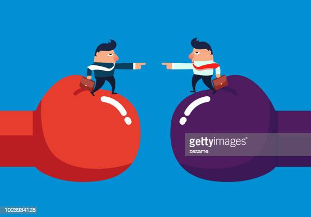 business conflict - office fight stock illustrations, clip art, cartoons, & icons