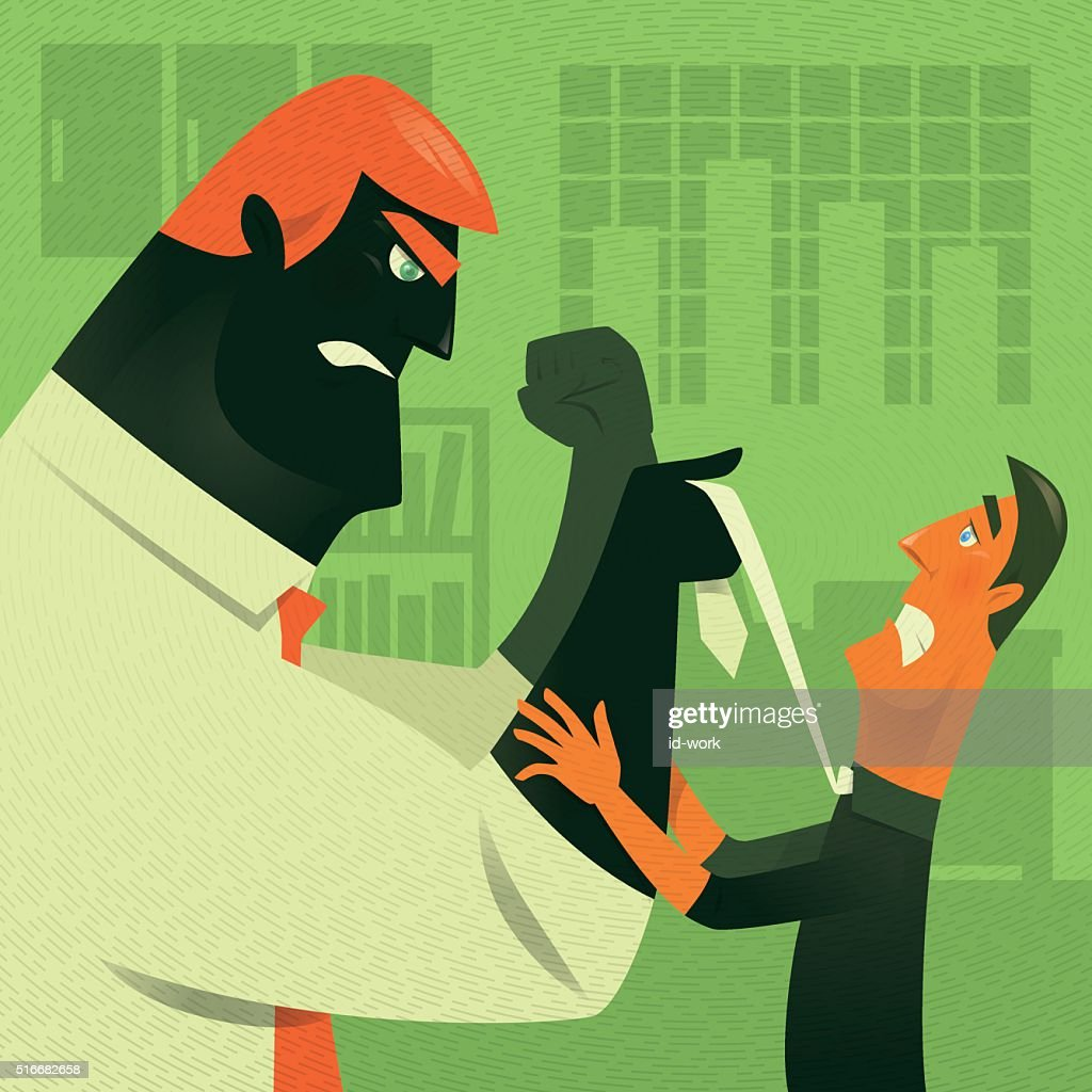 Conflicto de negocios : Ilustración de stock