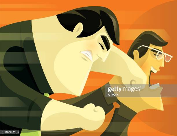 business conflict - knockout stock illustrations, clip art, cartoons, & icons