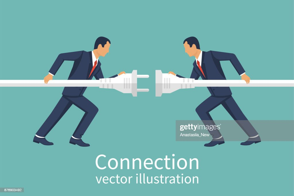 Business connection concept