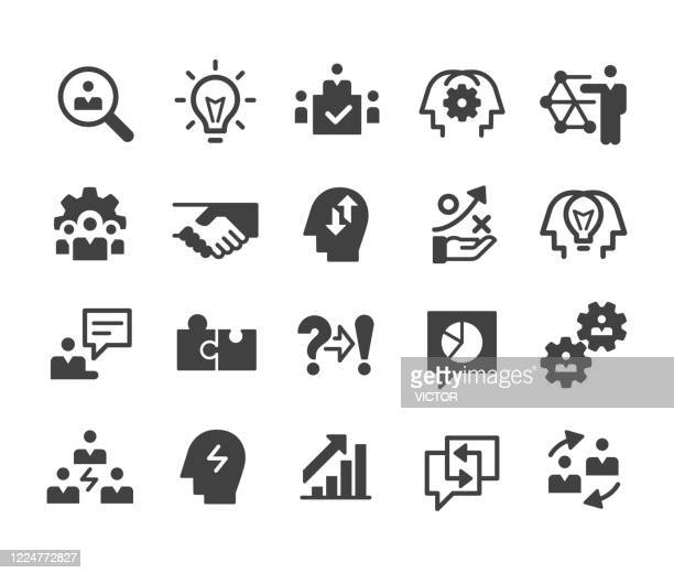 business consulting icons - classic series - umschulung stock-grafiken, -clipart, -cartoons und -symbole