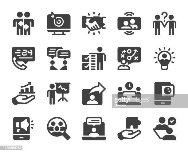 unternehmensberatung-icons - umschulung stock-grafiken, -clipart, -cartoons und -symbole