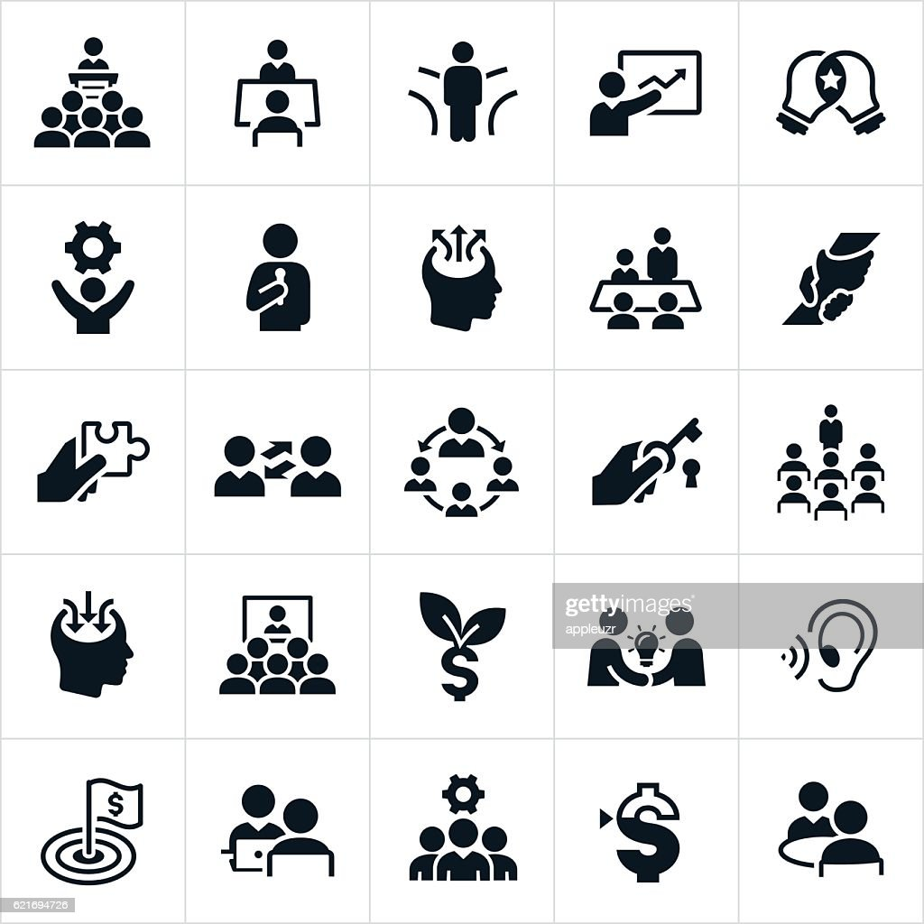 Business Consulting Icons : Stock-Illustration