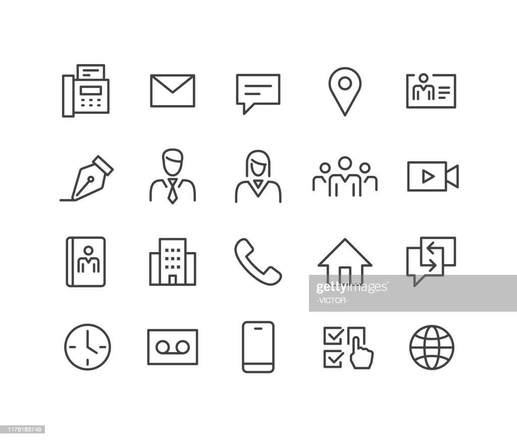 Business Contact Icons - Classic Line Series : Stock Illustration