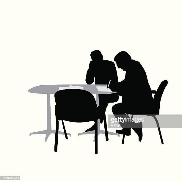 Business Contract Vector Silhouette