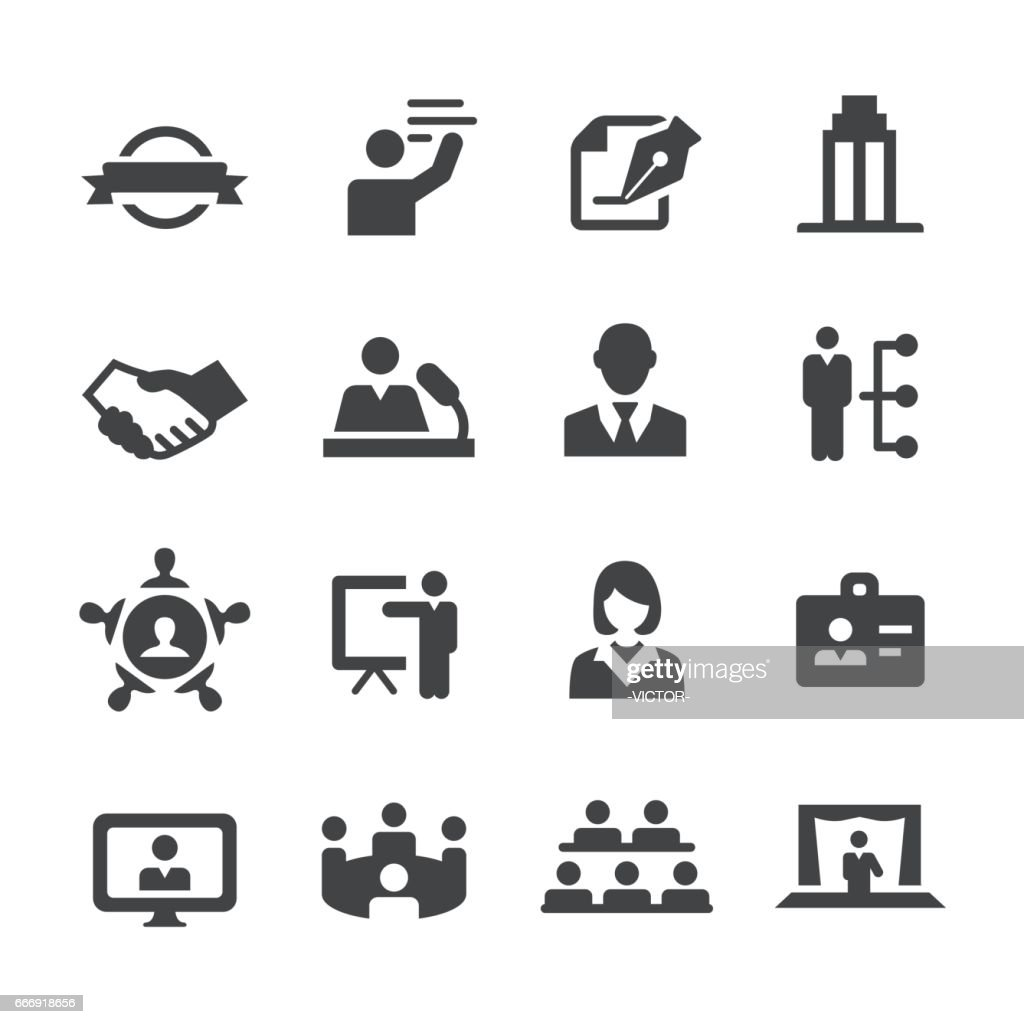 Business Convention Icons - Acme Series : stock illustration