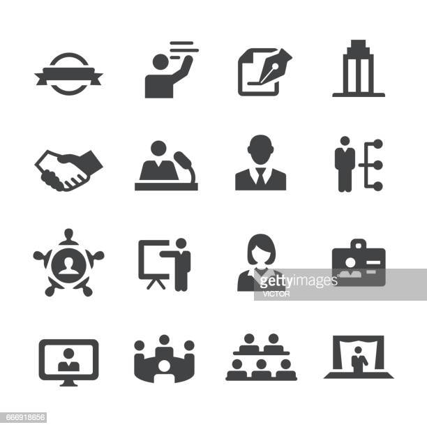 business convention icons - acme series - public speaker stock illustrations