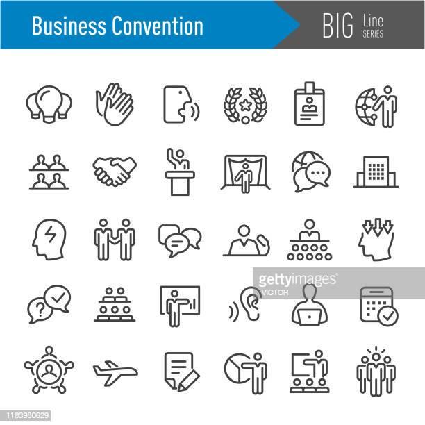 ビジネスコンベンションアイコン - ビッグラインシリーズ - 展覧会点のイラスト素材/クリップアート素材/マンガ素材/アイコン素材