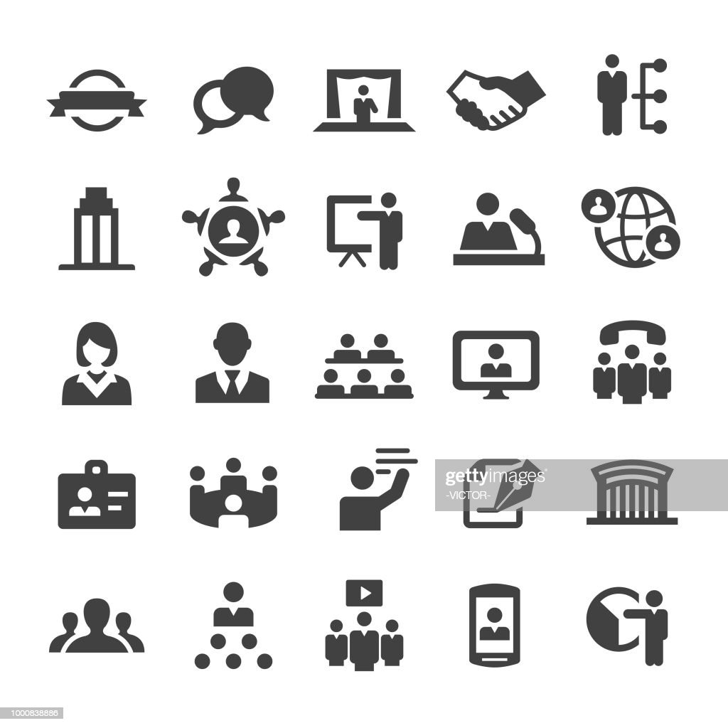 Business Convention Icons - Smart Series : stock illustration