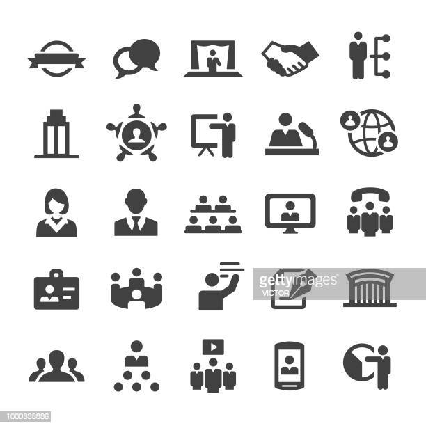 business convention icons - smart series - political rally stock illustrations, clip art, cartoons, & icons