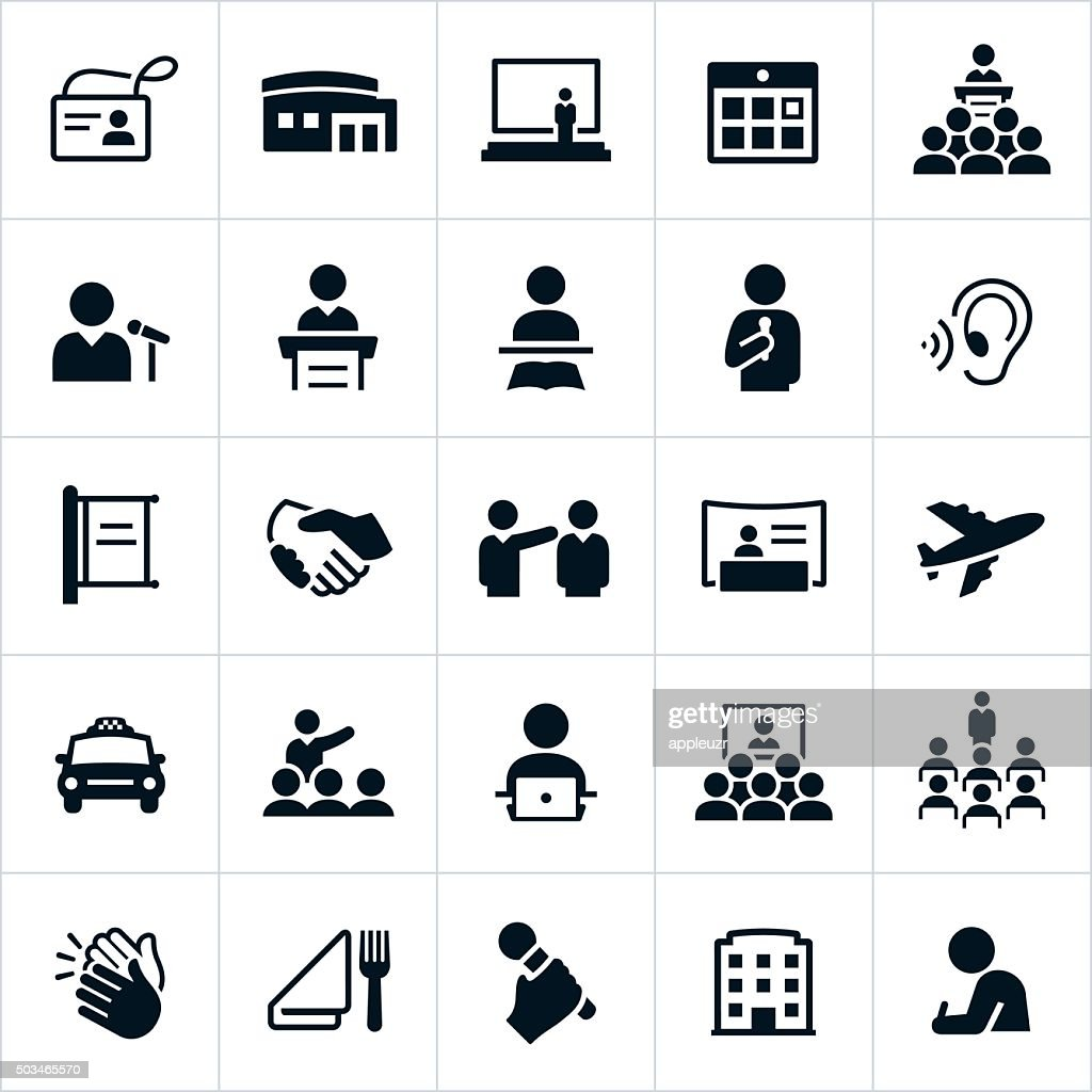 Business Convention Icons : stock illustration