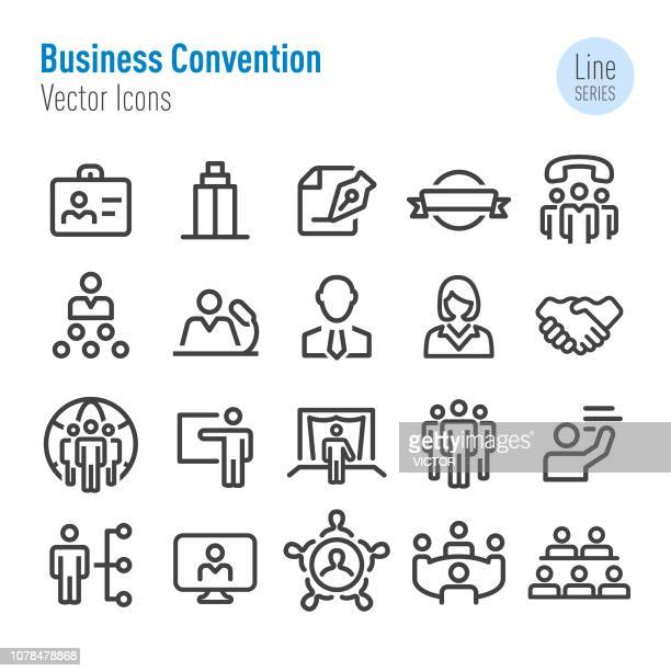 Business Convention Icons - Vector Line Series