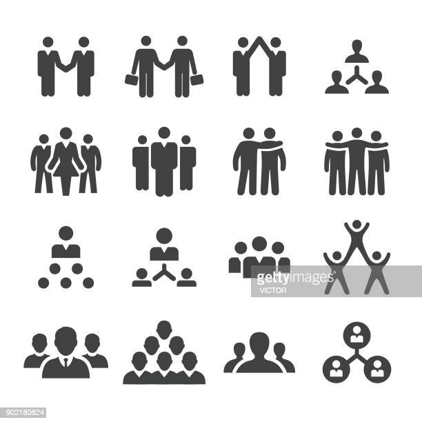 business cooperation icons - acme series - employee stock illustrations