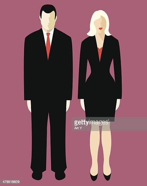 ビジネスのカップル(ベクトル&jpg