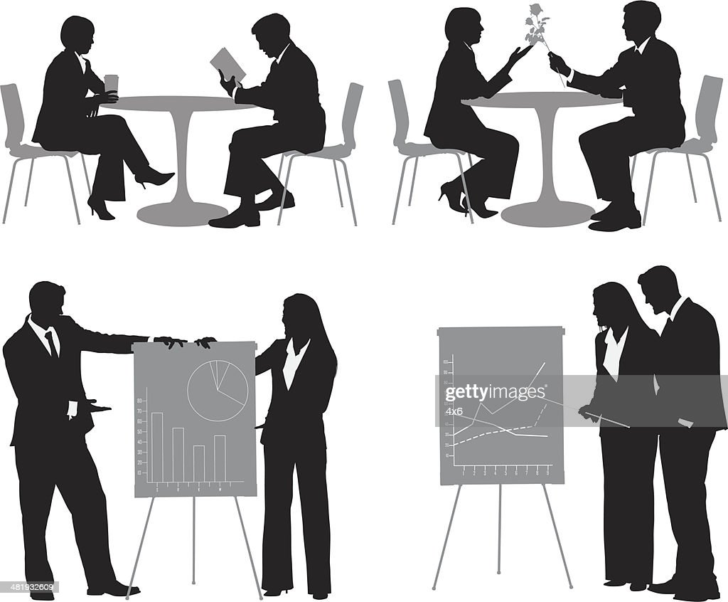 Business couple : stock illustration