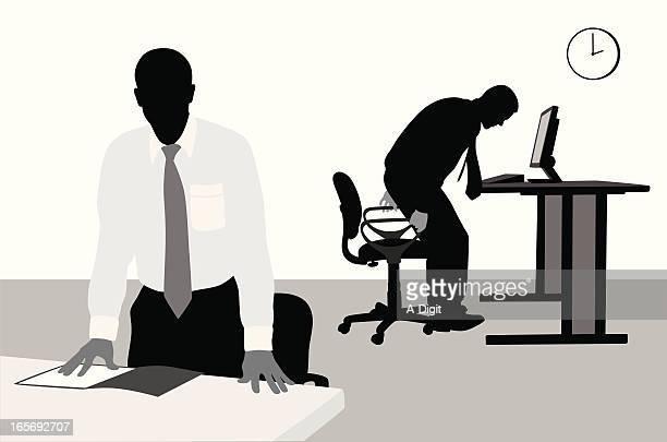 Business Day Vector Silhouette