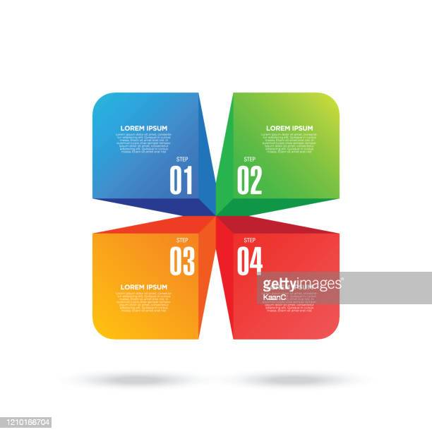 business diagram and infographic element. four steps infographic stock illustration - number 4 stock illustrations