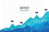 Business diagram graph chart.