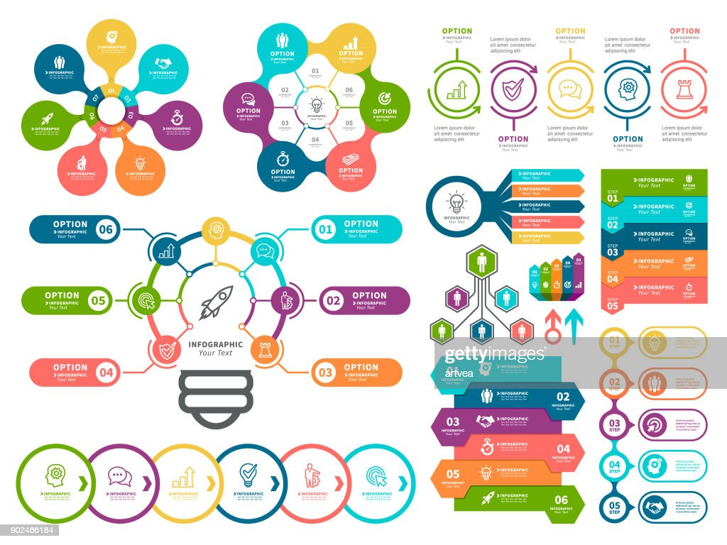 Geschäftsdiagramme und Infografik Elemente. : Stock-Illustration