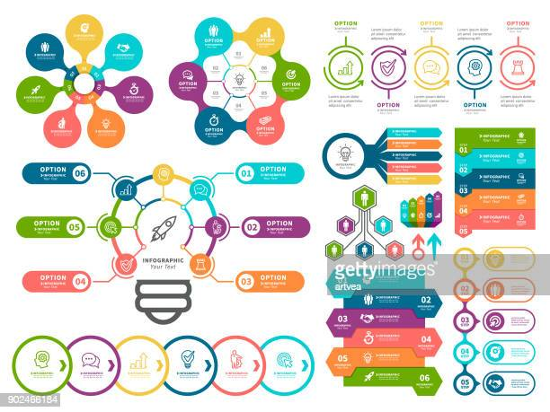 business diagrams and infographic elements. - part of stock illustrations