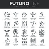 Business Discipline Futuro Line Icons Set