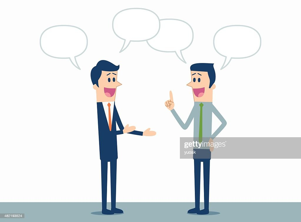 Business discussion : stock illustration