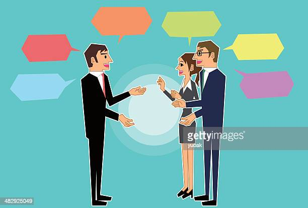 business discussion - assertiveness stock illustrations, clip art, cartoons, & icons