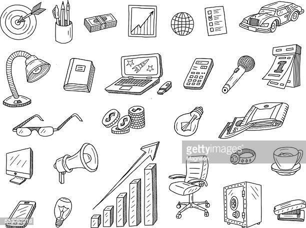 business doodles - usb stick stock illustrations, clip art, cartoons, & icons