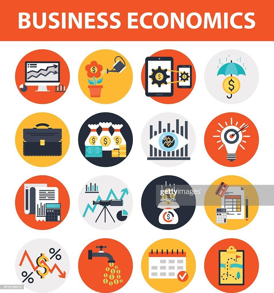 Business Economics Finance Management Icon