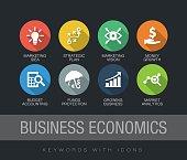 Business Economics keywords with icons