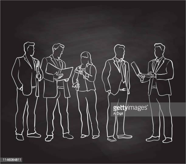business edge chalkboard - bildtechnik stock-grafiken, -clipart, -cartoons und -symbole