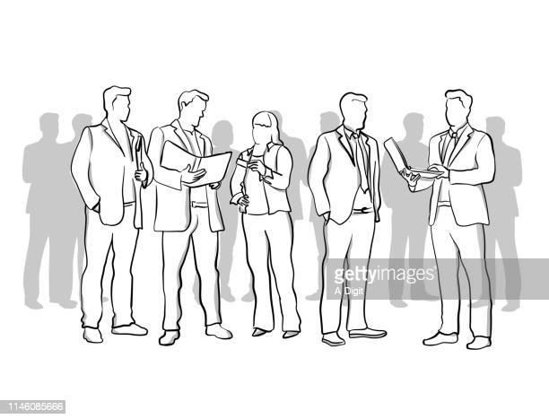business edge - businessman stock illustrations