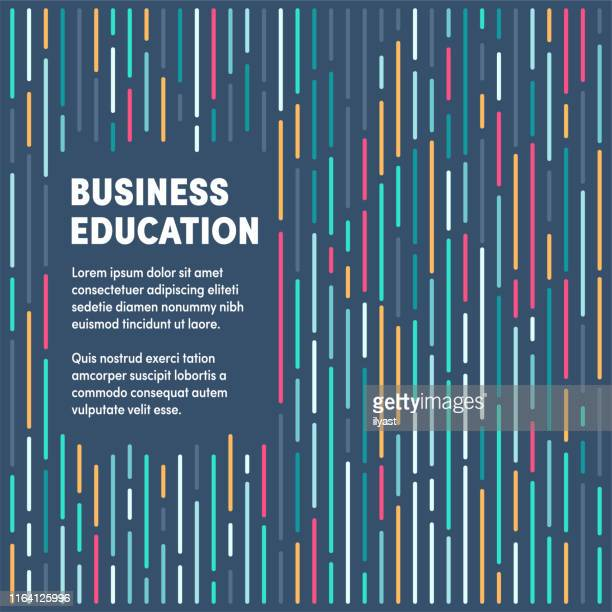 business education moderne & künstlerische designvorlage - konferenz stock-grafiken, -clipart, -cartoons und -symbole