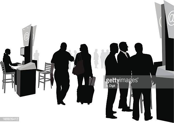 Business Equipment Vector Silhouette