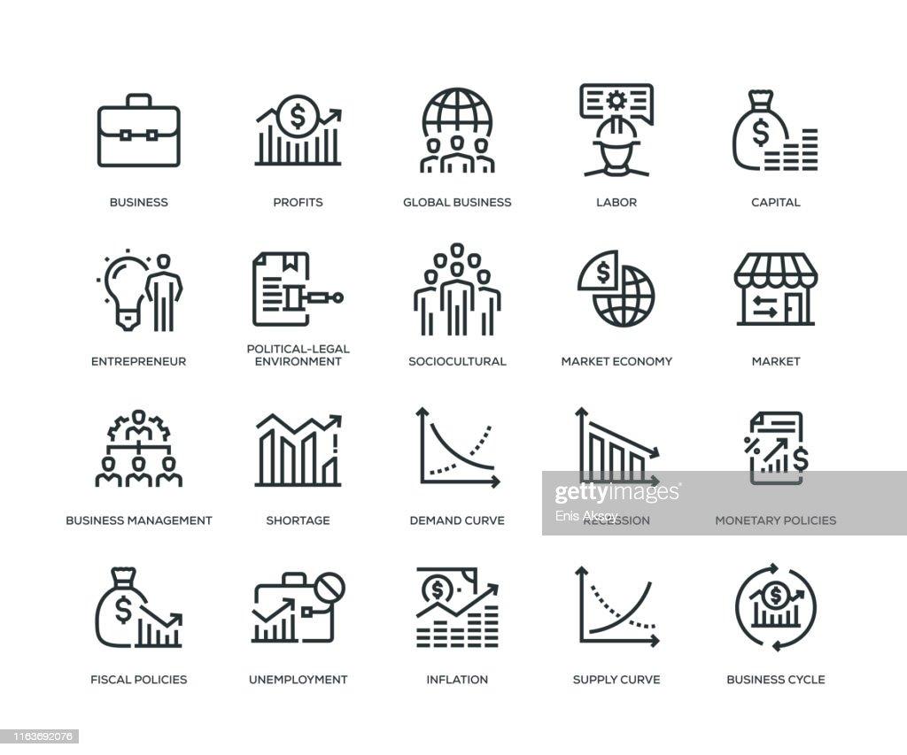 Set di icone Business Essentials : Illustrazione stock