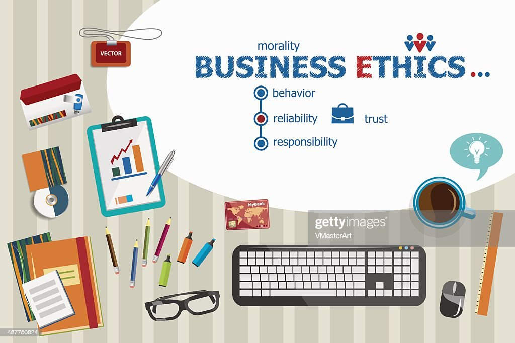 Business Ethics and flat design illustration concepts for busine