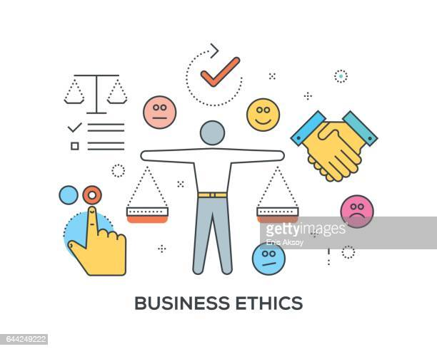 Business Ethics Concept with icons